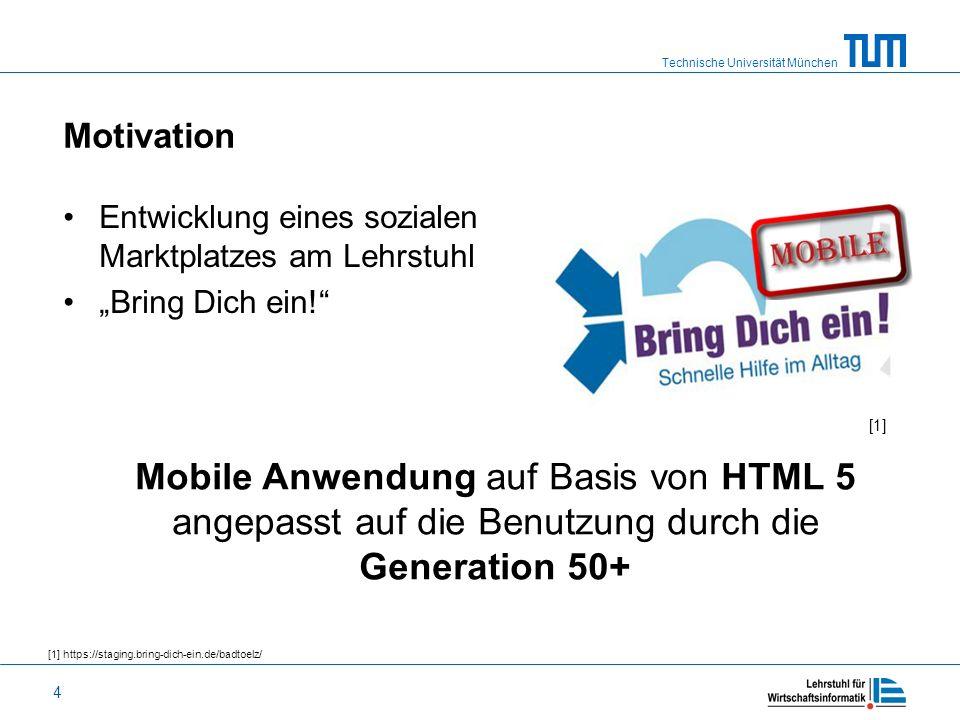 """Motivation Entwicklung eines sozialen Marktplatzes am Lehrstuhl. """"Bring Dich ein! [1]"""